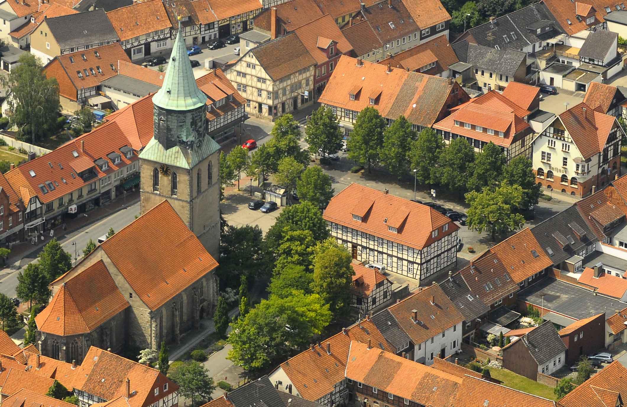 Gronau-Luftbild-Innenstadt